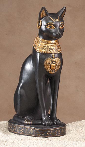 Representação da deusa Bastet, no Antigo Egito.